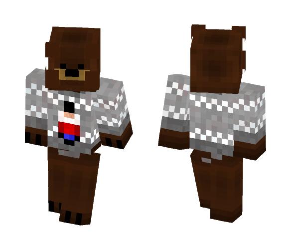 Xbox One Christmas Sweaters Skins Minecraft 2020 Download Bear in Christmas Sweater Minecraft Skin for Free