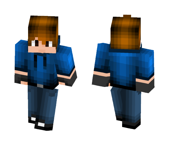 blue sweater boy - Male Minecraft Skins - image 1