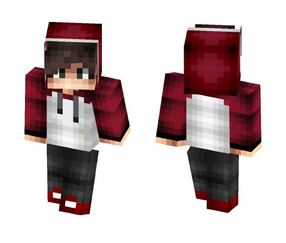 Download Red N White Hoodie Teen Boy Minecraft Skin For Free Superminecraftskins