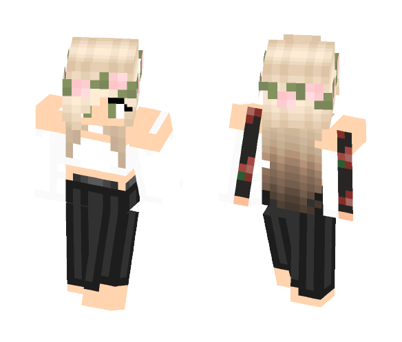 Download Cute Girl With Dress Minecraft Skin For Free