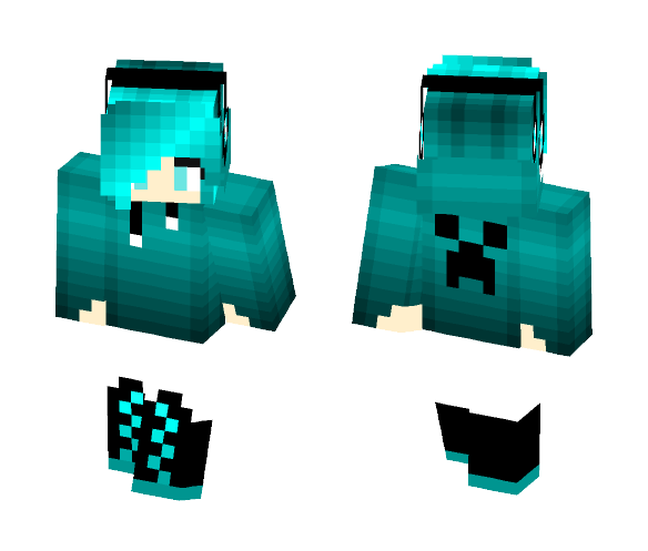 Download Blue Hoodie With Headphones Girl Minecraft Skin For Free Superminecraftskins