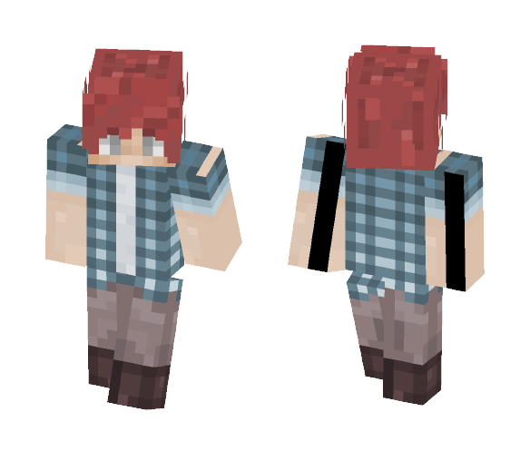 Blue Plaid - Male Minecraft Skins - image 1