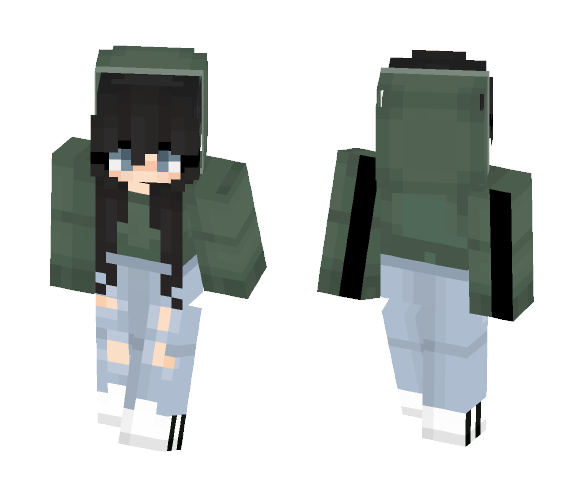 Green sweater˜ - Female Minecraft Skins - image 1
