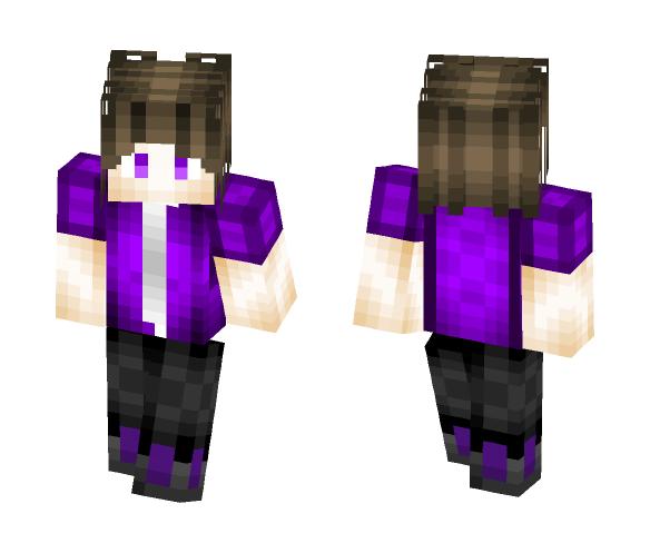Purple amazing pvp Skin - Male Minecraft Skins - image 1