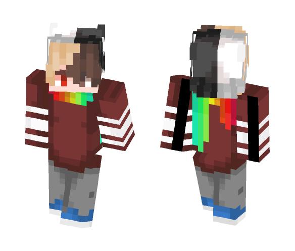 -=[-Rainbow-Scarf-]=- - Male Minecraft Skins - image 1