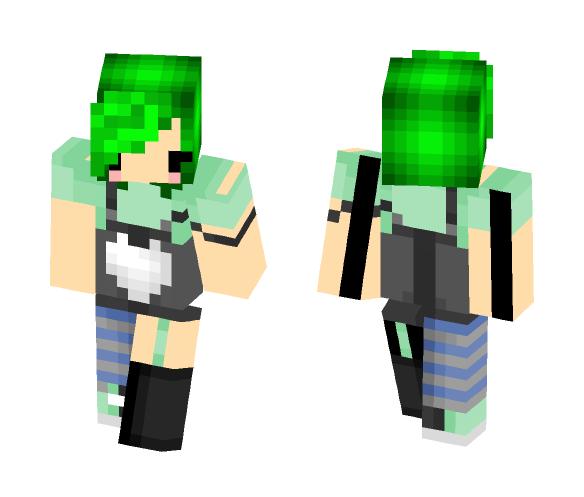 emo | green hair | leminium ∞ - Female Minecraft Skins - image 1