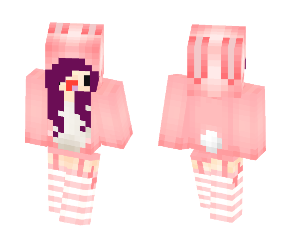 Purple Haired Bunny - Female Minecraft Skins - image 1