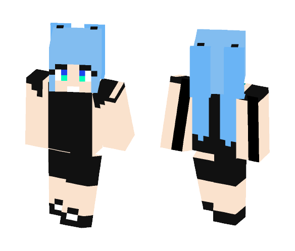 Download MMD Faded Girl Minecraft Skin for Free