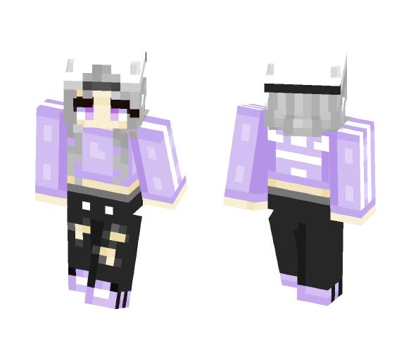 -=+Purple Adidas Finished+=- - Female Minecraft Skins - image 1