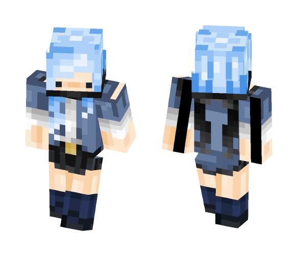 Blue girl - Girl Minecraft Skins - image 1