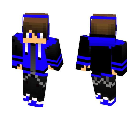Black/Blue hoodie - Male Minecraft Skins - image 1