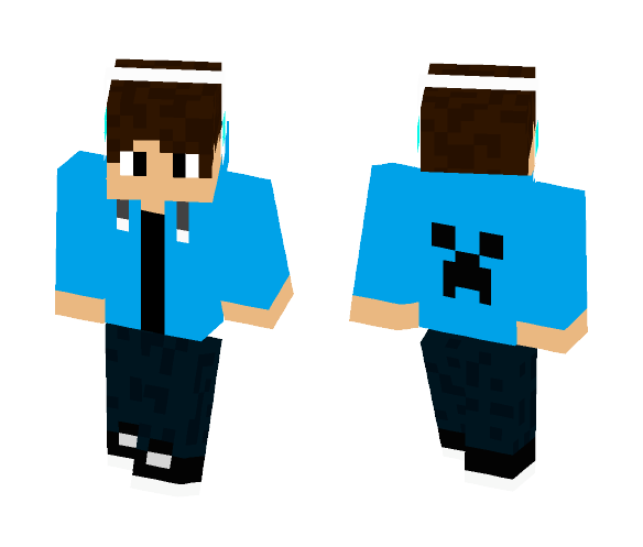 Blue Hoodie - Male Minecraft Skins - image 1