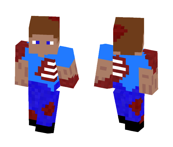 Bloody Steve - Male Minecraft Skins - image 1