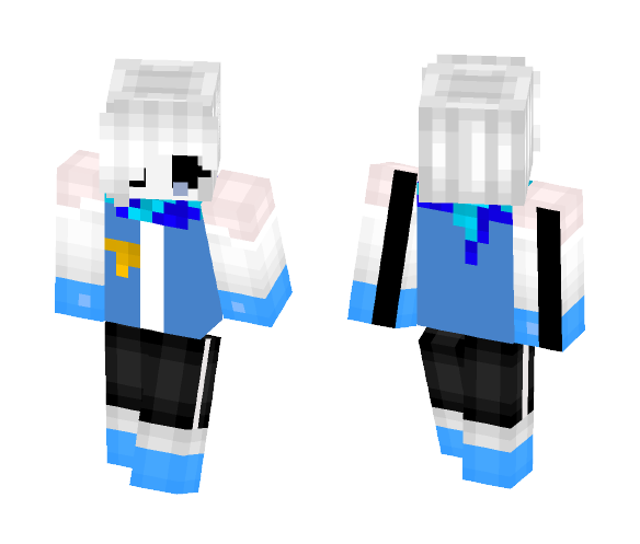 InvertedFate sans ( girl version ) - Girl Minecraft Skins - image 1