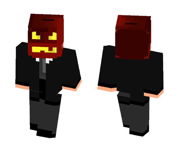 Classic Pumpkin in a suit. - Interchangeable Minecraft Skins - image 1