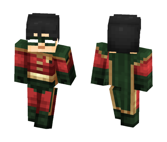 Robin Revamped (Under The Red Hood) - Male Minecraft Skins - image 1