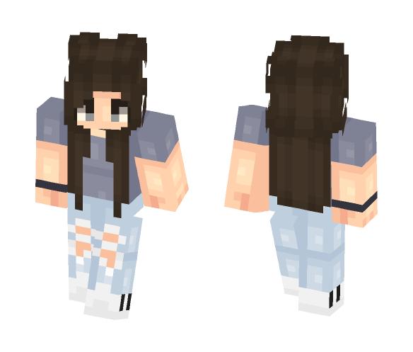 Tomboy With Choker - Female Minecraft Skins - image 1