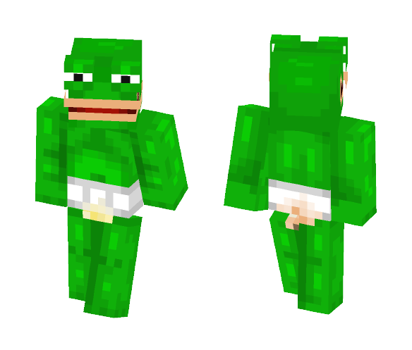 Pepe the frog - Male Minecraft Skins - image 1
