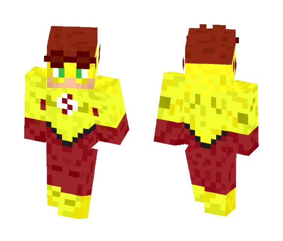Kid Flash (Young Justice Version) - Male Minecraft Skins - image 1