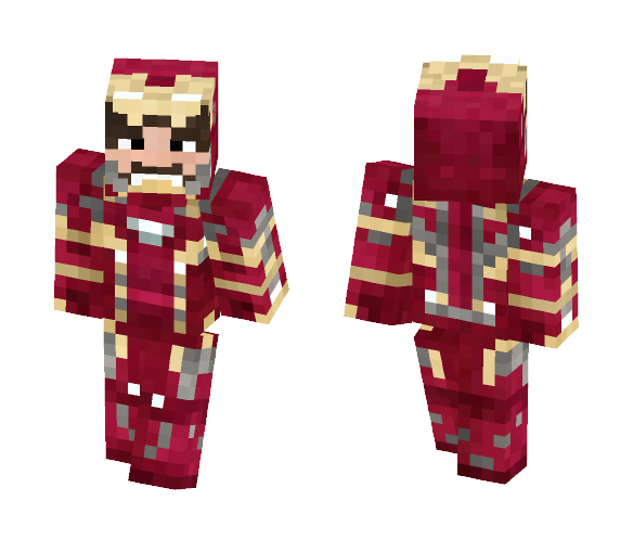 Ironman Civil war (Open mask) - Comics Minecraft Skins - image 1