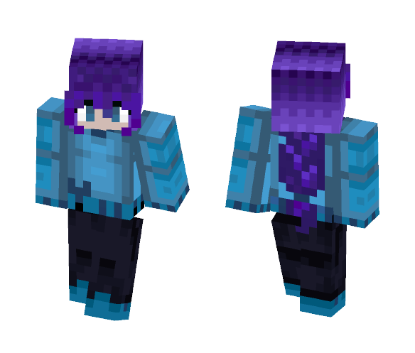 Purple Hair Girl - Color Haired Girls Minecraft Skins - image 1