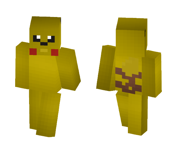 Pikachu - Pokemon - Interchangeable Minecraft Skins - image 1