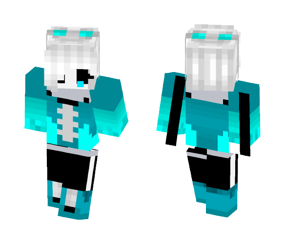 QuantumTale sans ( girl version ) - Girl Minecraft Skins - image 1
