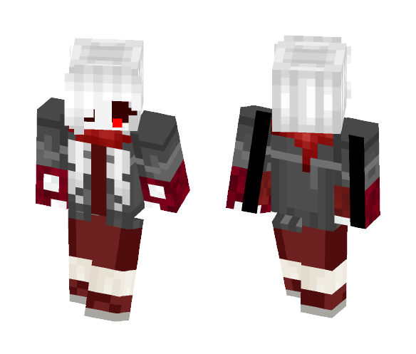GenocideSwap sans ( girl version ) - Girl Minecraft Skins - image 1