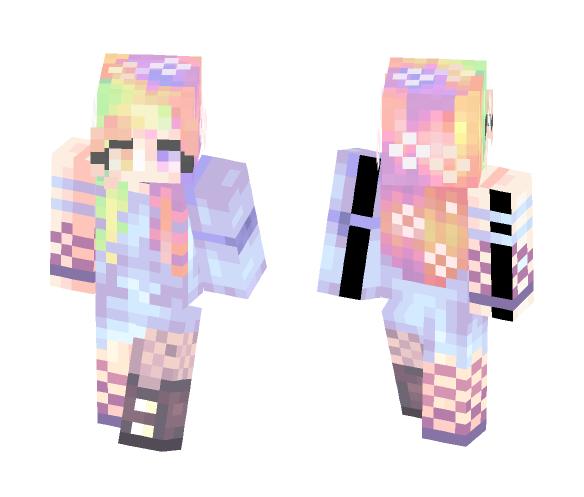 Rainbow Paradise - Female Minecraft Skins - image 1