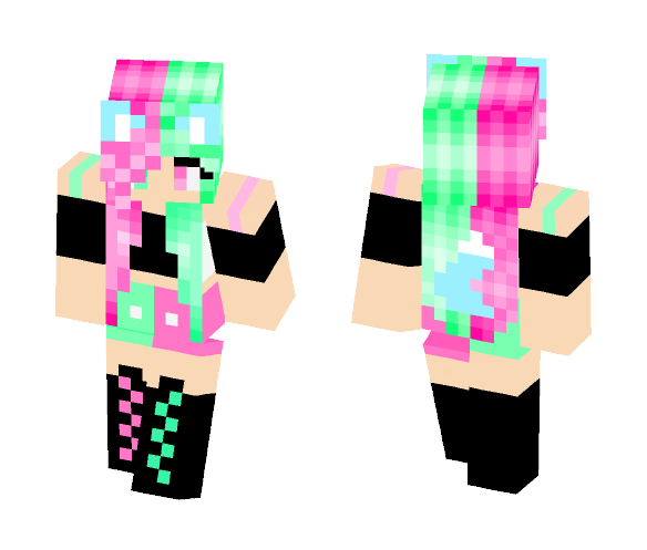 Kawaii Kitty Girl - Girl Minecraft Skins - image 1