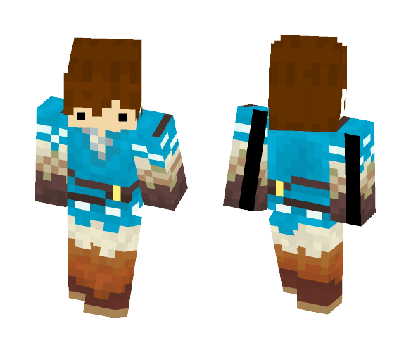 Link (Breath of the Wild) - Male Minecraft Skins - image 1