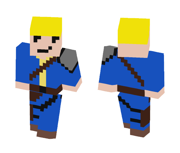 Fallout Boy Armored - Boy Minecraft Skins - image 1