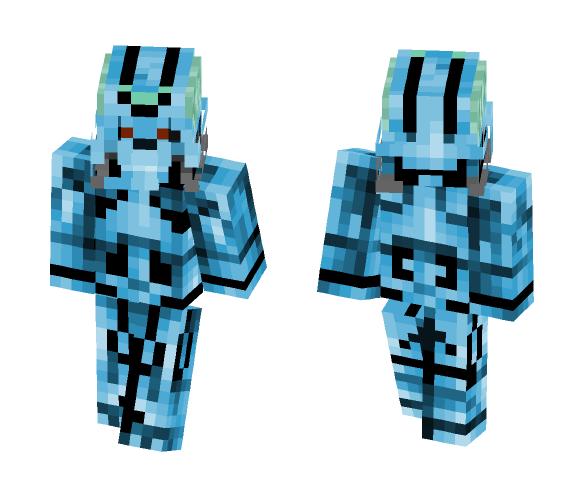 Brainiac Blue Skull (with body) - Male Minecraft Skins - image 1