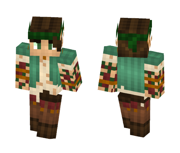 Tattooed Hippy Elf || Massivecraft - Interchangeable Minecraft Skins - image 1