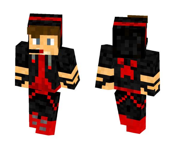 Red gamer boy - Boy Minecraft Skins - image 1