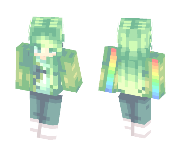 ༺|✿ gяєєиℓєαf ✿|༻ - Female Minecraft Skins - image 1