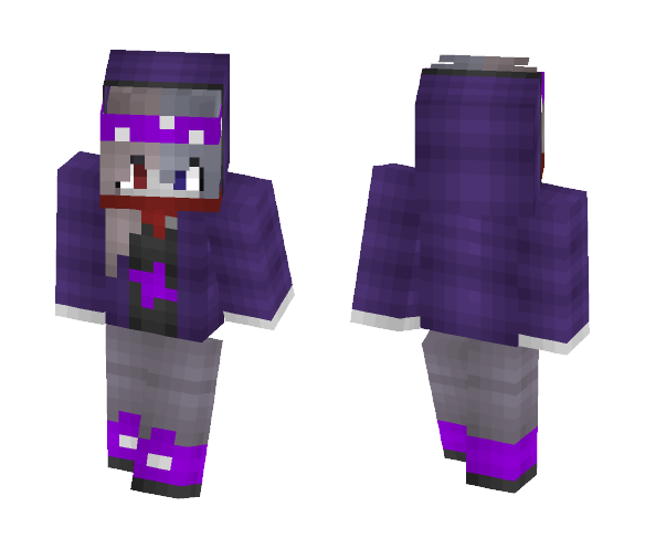 ~Purple girl~ - Female Minecraft Skins - image 1