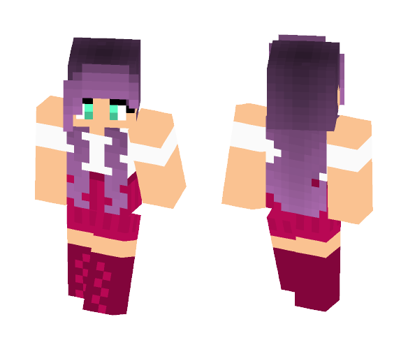 Pink & Purple - Female Minecraft Skins - image 1