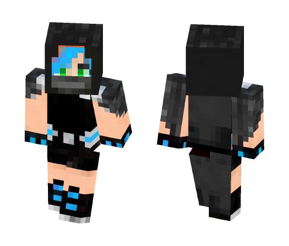 BlueGauntlet (version 1) - Female Minecraft Skins - image 1