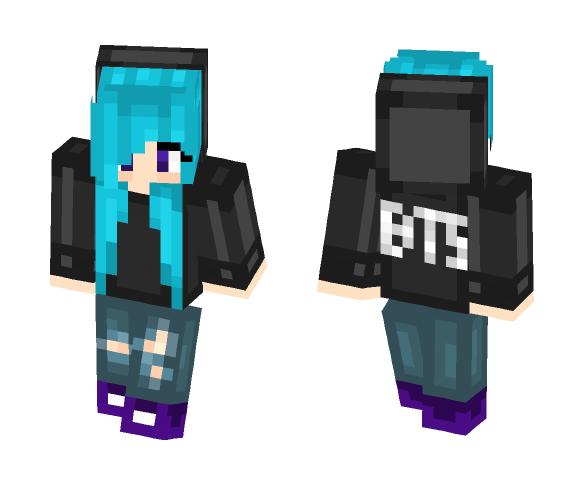 BTS Trash - Female Minecraft Skins - image 1