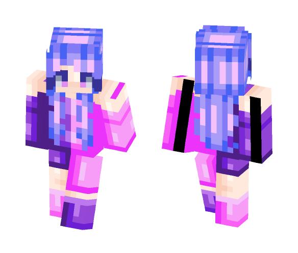 purple & pink - Female Minecraft Skins - image 1