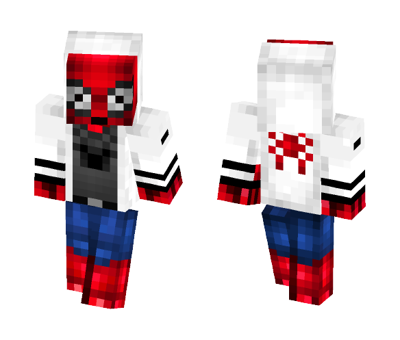 Spiderman With Hood - Comics Minecraft Skins - image 1