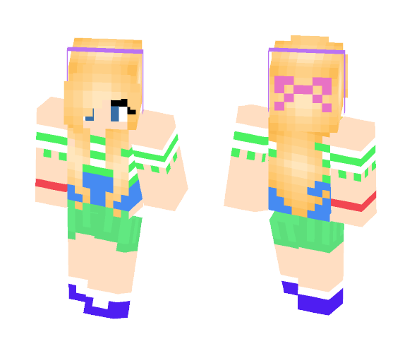 summer girl - Girl Minecraft Skins - image 1