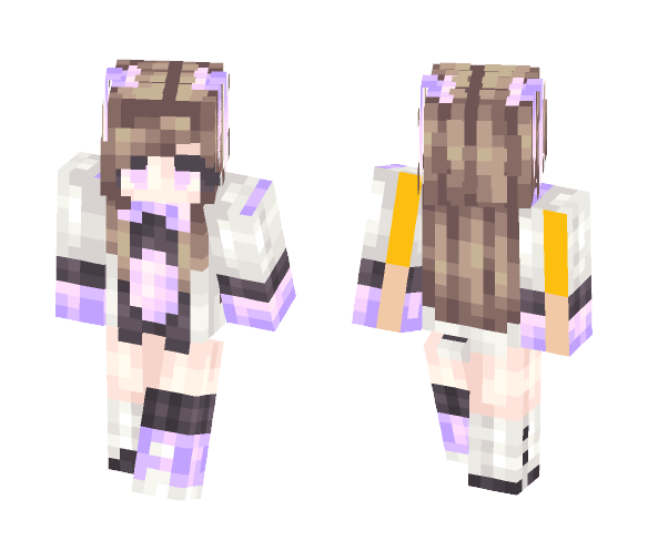 Electric Bunny - Female Minecraft Skins - image 1