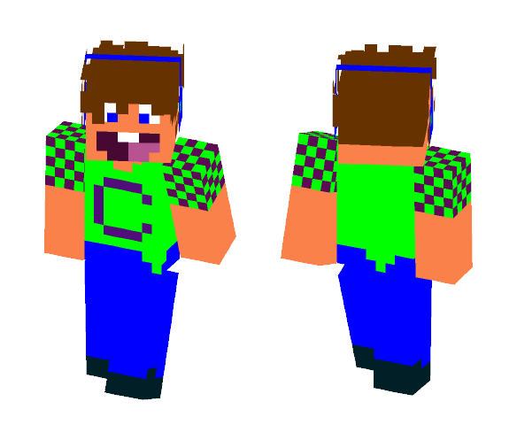 Enthusiastic Gamer - Male Minecraft Skins - image 1