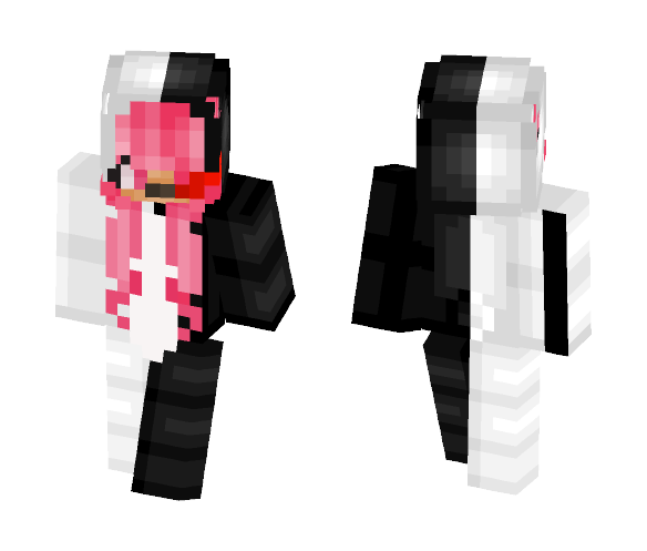 MonoKuma Pink - Female Minecraft Skins - image 1
