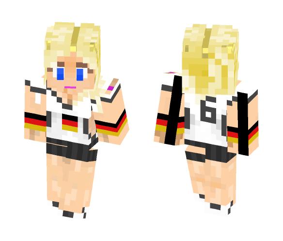 Germany Fan - Female Minecraft Skins - image 1