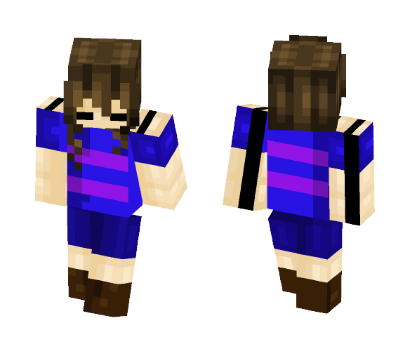 Frisk! (For Kiyuki Neko) - Female Minecraft Skins - image 1