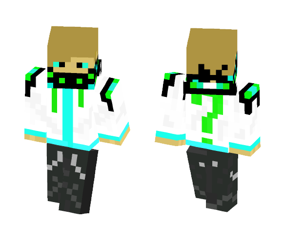 White hoodie - Male Minecraft Skins - image 1