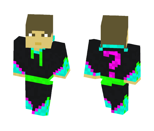 Black hoodie - Male Minecraft Skins - image 1